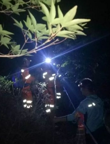 5名泉州驴友被困同安石垄水库,搜救2小时!