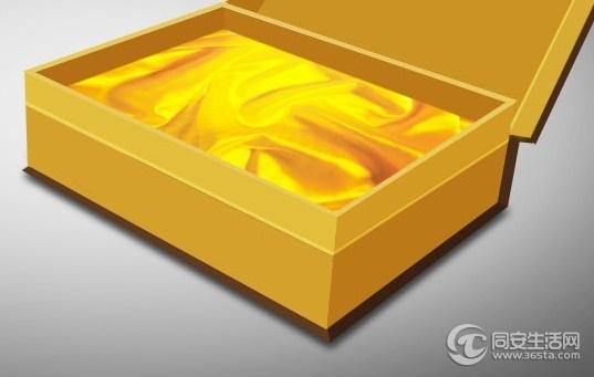 出售礼盒垫布(金黄色色丁布)