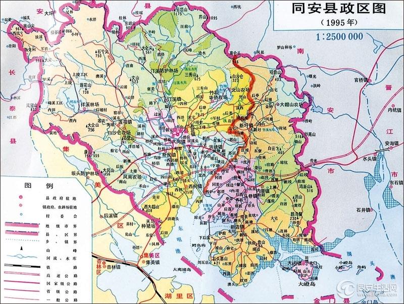 大洪山风景区区划图