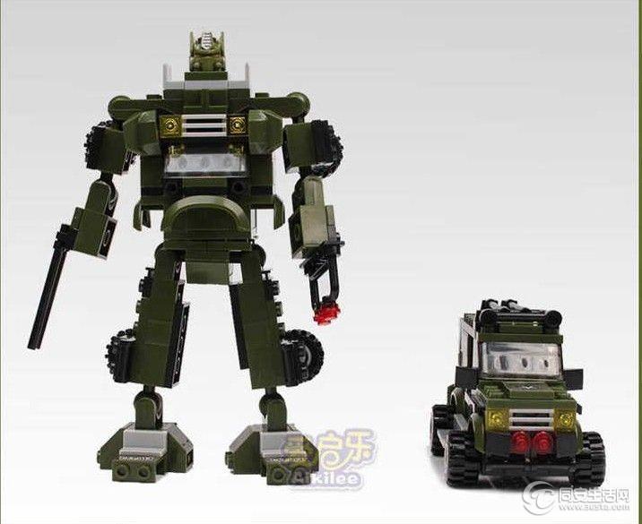 乐高式拼装积木益智玩具-机器人系列